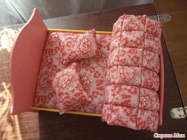 Как сделать постель для куклы фото 390