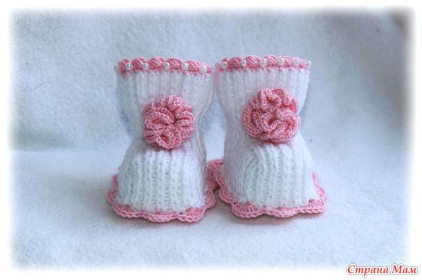 пинетки и носочки для новорожденных свяжем вместе страна мам