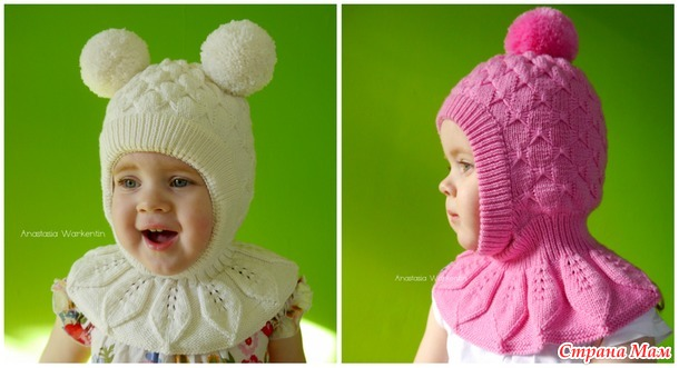 """Марафон """"Вяжем круглый год"""". Ноябрь: теплые шапочки для всей семьи спицами"""