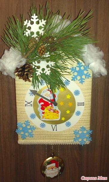 Как сделать поделку часы на новый год фото 476
