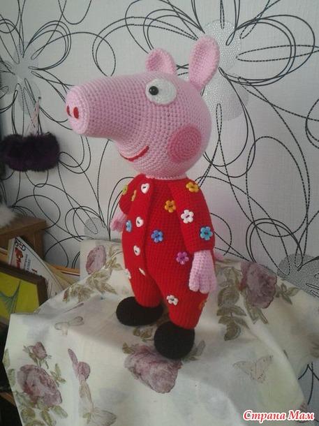 свинка пеппа в пижамке вязание страна мам