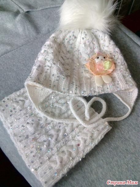 Продам зимние комплекты (шапка и шарф). Недорого. Россия
