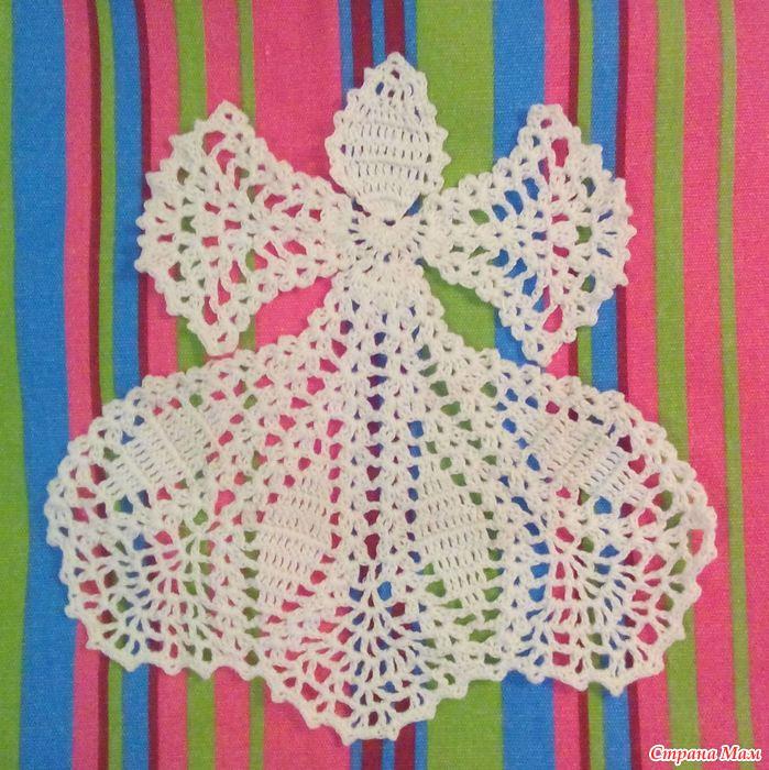 ангелочки крючком со схемами простые и красивые