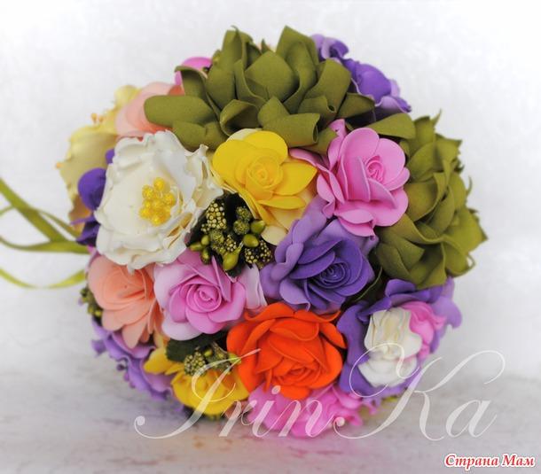 Интерьерный цветочный шар.