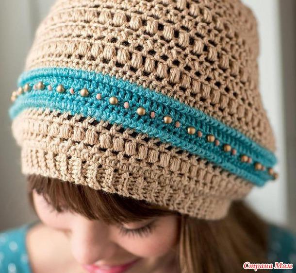 Смотрите, какая красивая шапочка крючком