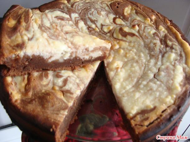 Быстрый и вкусный творожный пирог с какао