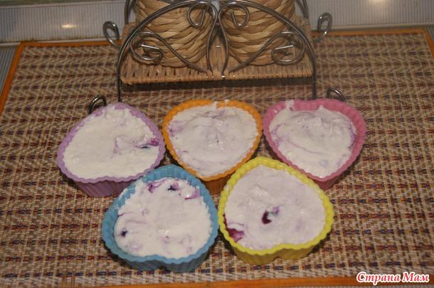 Творожное суфле с ягодами для малышей (и не только)