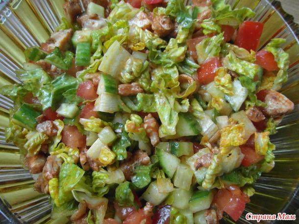 Кебаб - салат