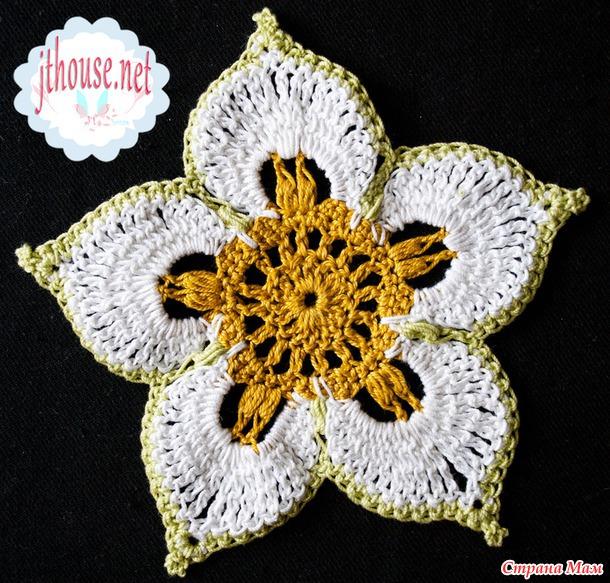 бесплатный мастер класс вязания крючком цветок талисман от