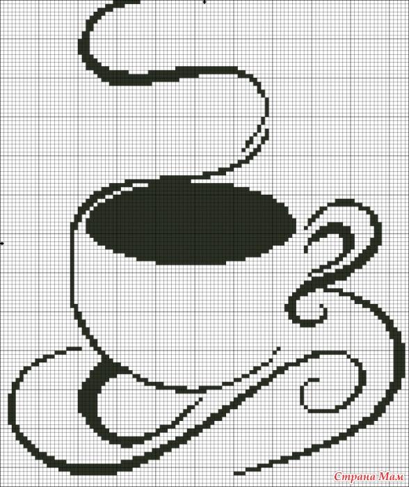 Картинки по клеточкам чай