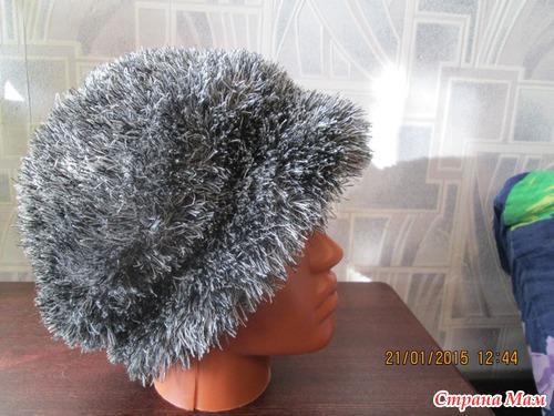 шапки вязанные из травки с описанием - 7