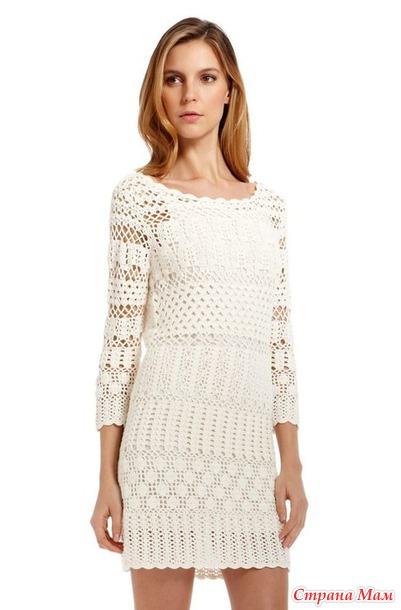 407d7de8fba Очень красивое платье - Все в ажуре... (вязание крючком) - Страна Мам