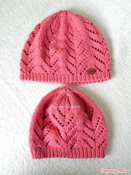 Вязание детской ажурной шапочки на спицах Детская шапочка спицами Вяжем с Лана Ви
