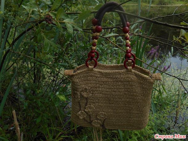 Летняя сумочка из джутового шпагата