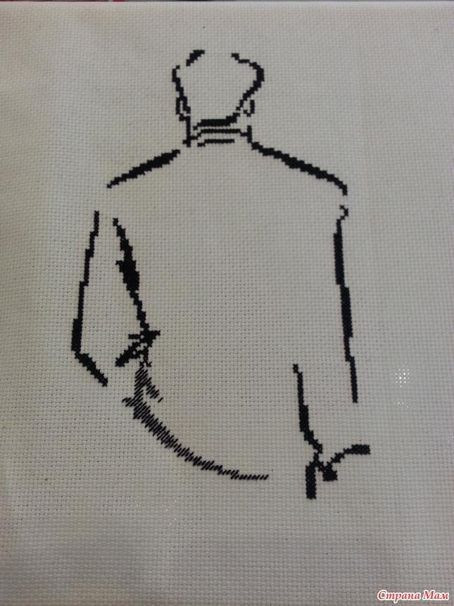 Романс о влюбленных вышивка готовая работа - Венок изобилия 30