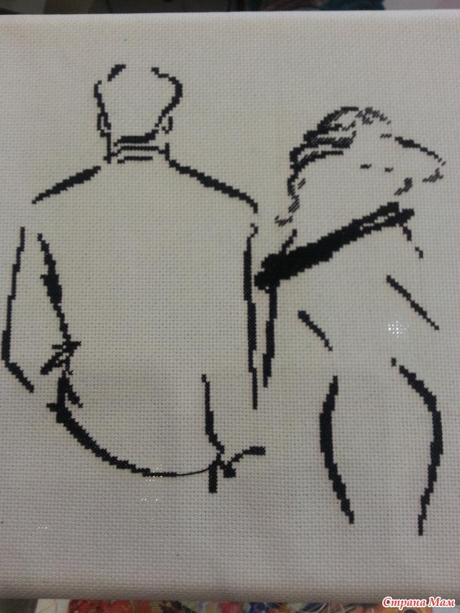 Романс о влюбленных вышивка готовая работа - Венок изобилия 46