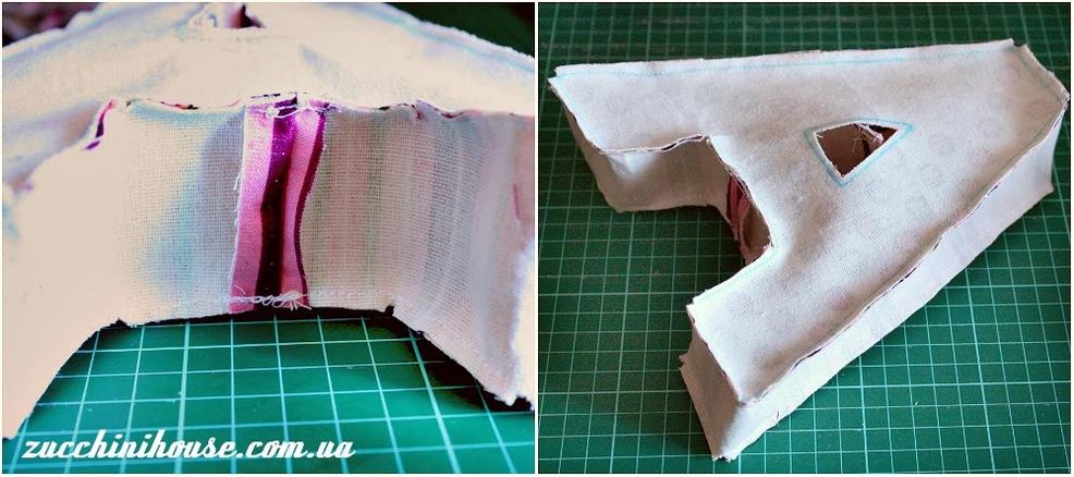 Как сшить буквы подушки своими руками пошагово