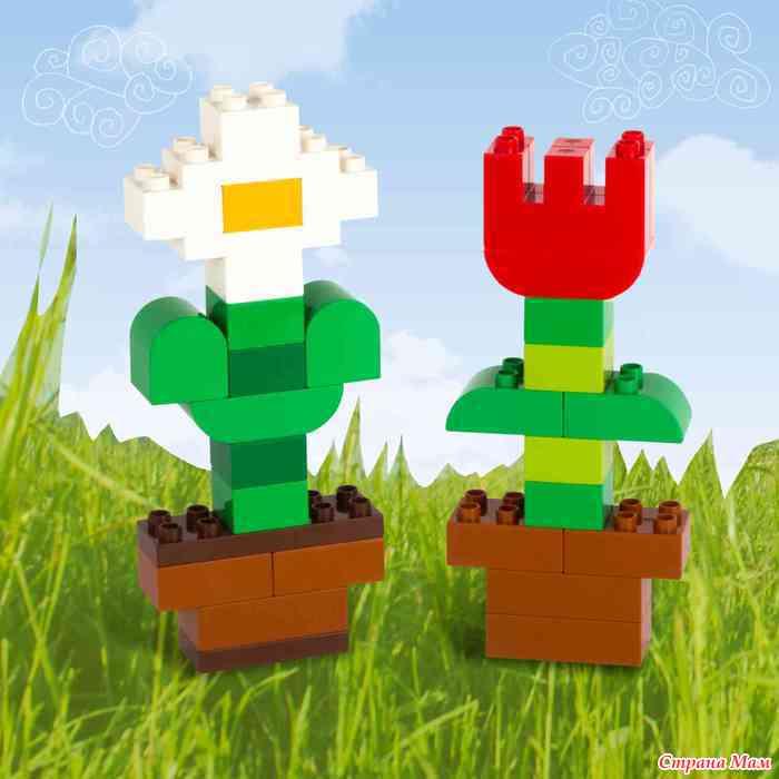 """Выращиваем"""" цветочки из кубиков лего дупло - Развивающие игры ..."""
