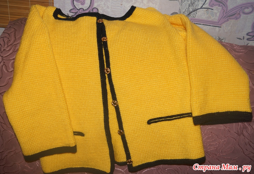 жакет тунниским крючком вязание страна мам