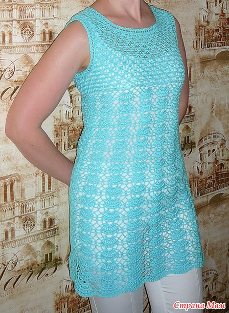 . Ажурная туника -платье