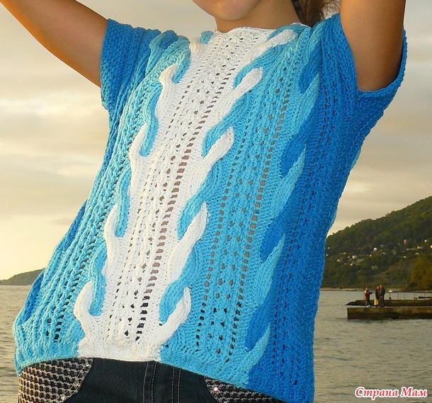И ещё один летний пуловер.