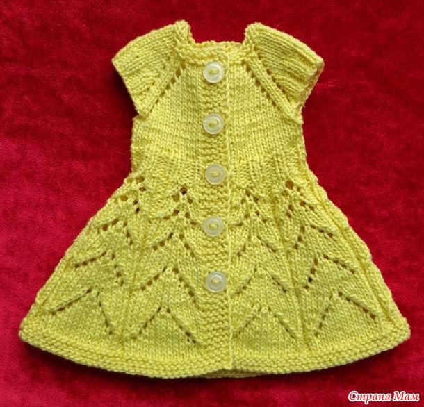 Платье спицами для Paola Reina