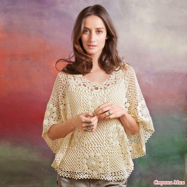Блузка-накидка из мотивов