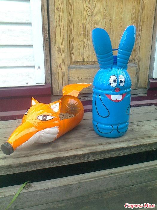 Поделки из пластиковых бутылок: мастер-класс для детского сада