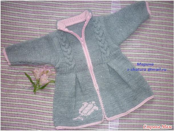 вязаное пальто для девочки вязание страна мам