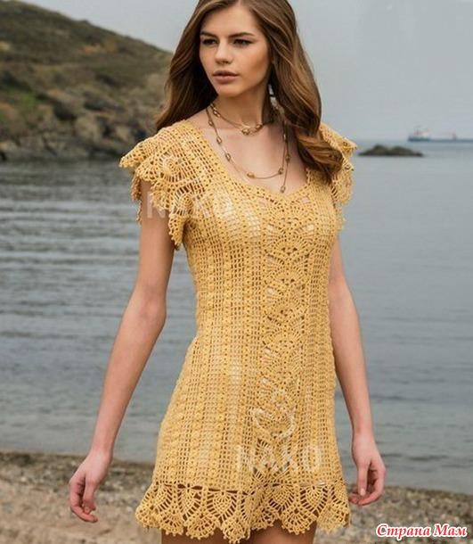 Платье крючком для себя любимой