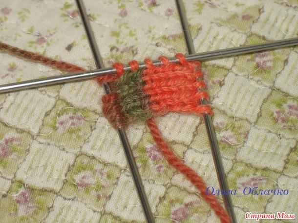 Лоскутные варежки в технике энтерлак