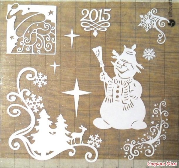 Новогодние заготовки для окон (образцы)