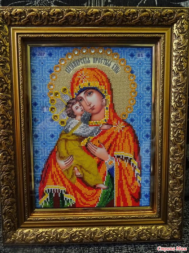 Владимирская божья матерь вышивка бисером