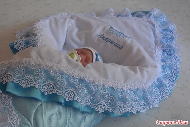"""Комплект на выписку для новорожденного  """" сказка"""""""