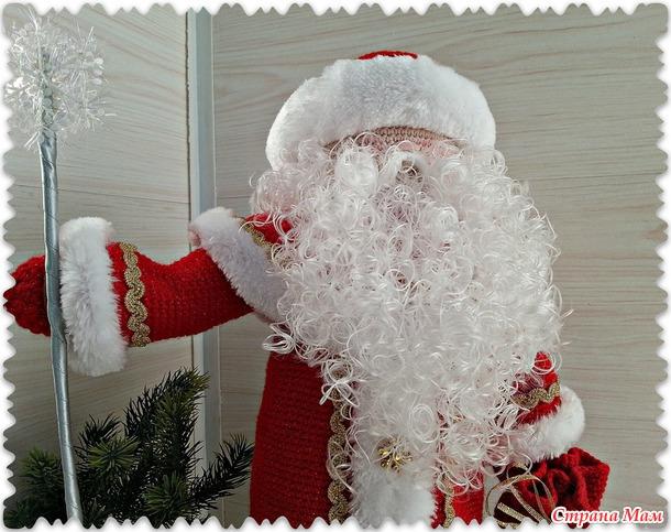 Дед мороз (декор бутылки шампанского)