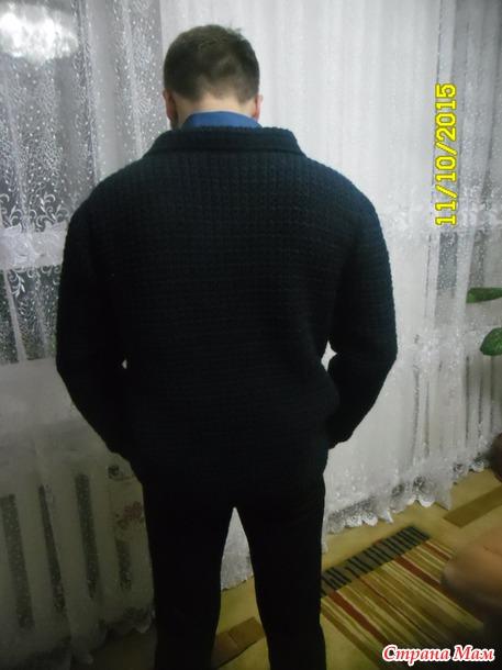 . Мужской пиджак крючком..