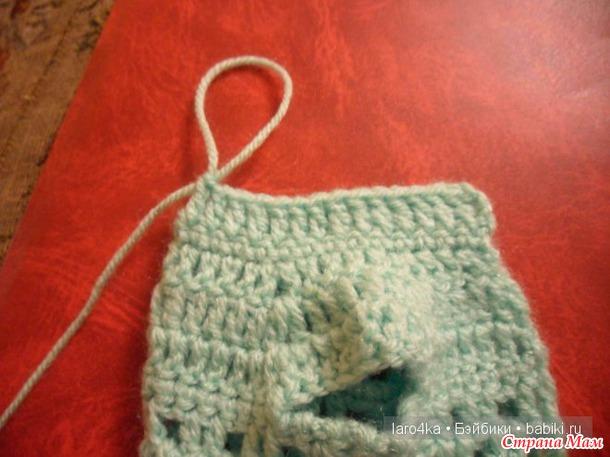 Уроки вязания крючком. Принцип вязания капюшона.