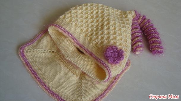 Шапочка-шлем для девочки