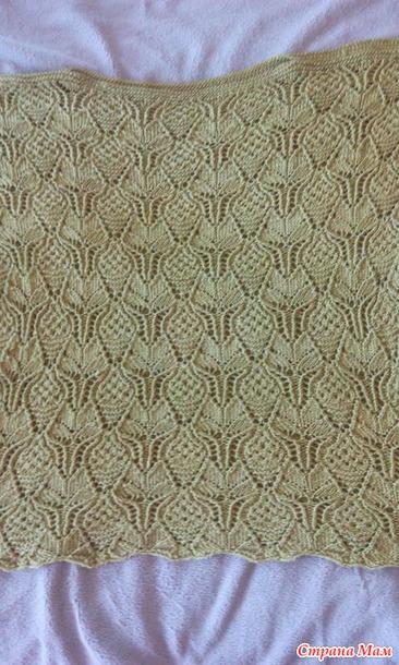 японская ажурная кофточка спицами вязание страна мам