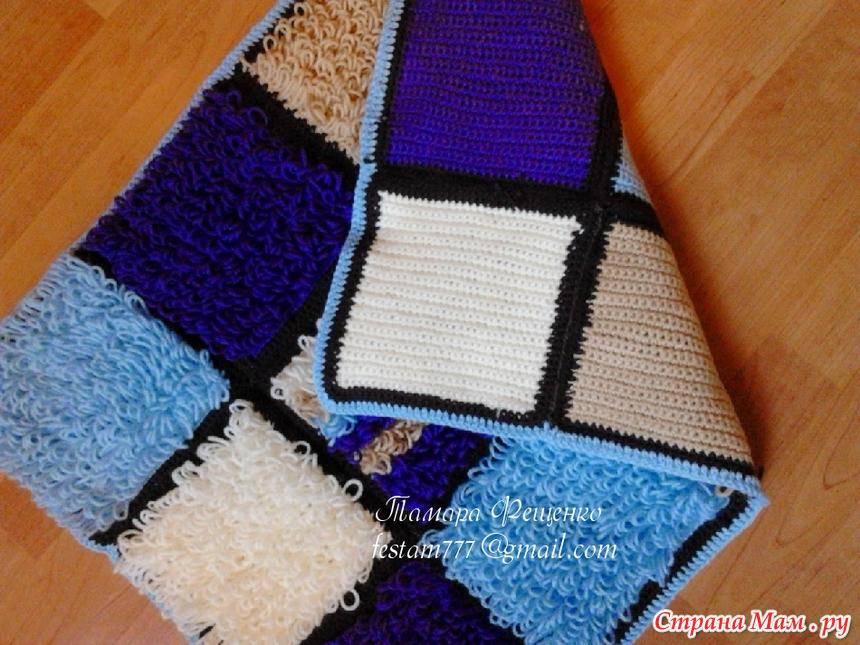 акриловый коврик из остатков пряжи вязание страна мам