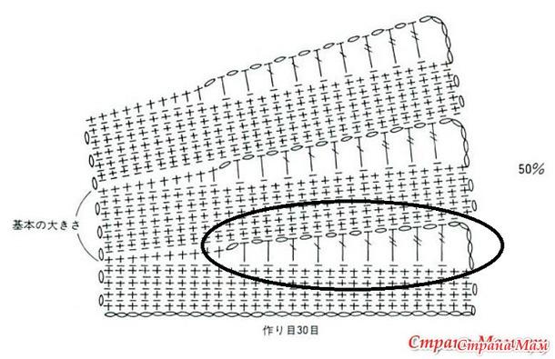 Манишка - накидка крючком