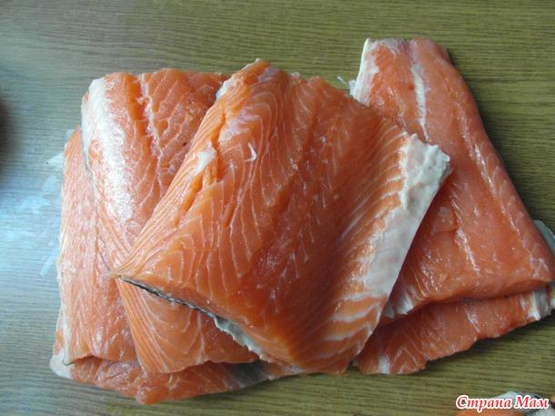 Домашний посол красной рыбы...