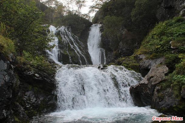 Осенний поход на Киселёвские водопады. Камчатская природа