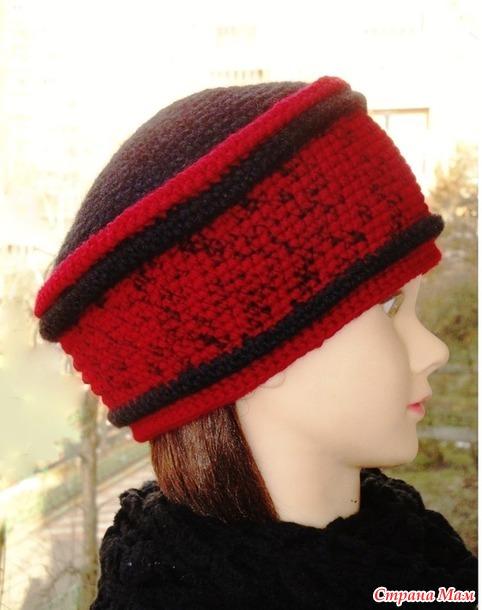 Красное и чёрное. Вязаные шапки.