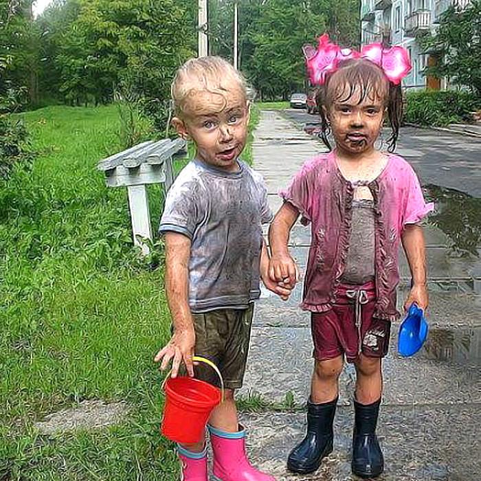 Демотиваторы грязные дети