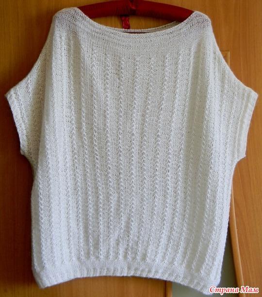 """Нежный пуловер со спущенным плечом """" Снежка"""""""