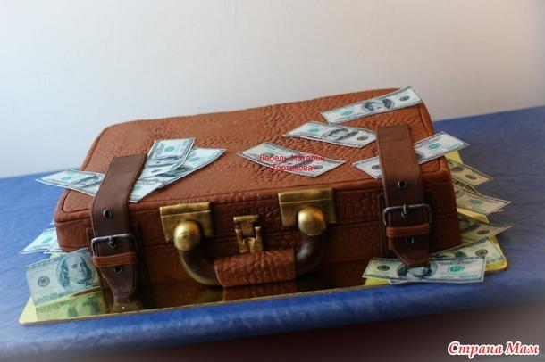 Торт из мастики чемодан фото
