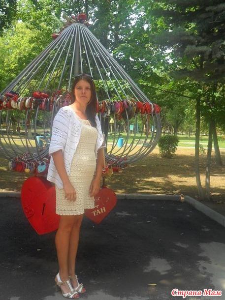 Платье с круглой кокеткой и жакет