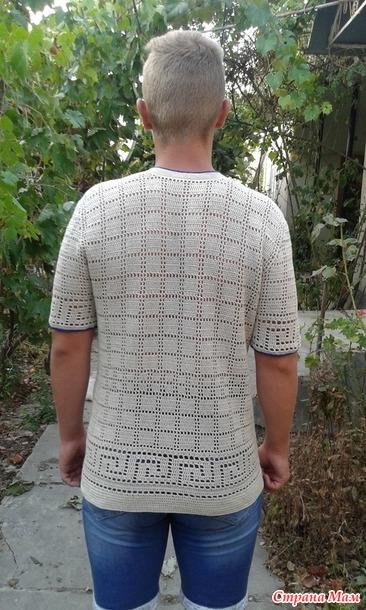 . Вязано-вышитая мужская вышиванка