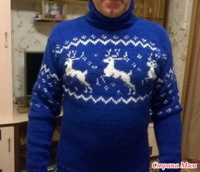 Картинки по запросу свитер с оленями спицами